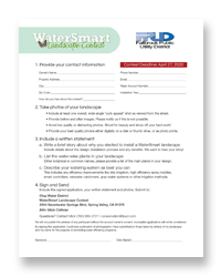 Fallbrook WaterSmart Landscape Contest Application